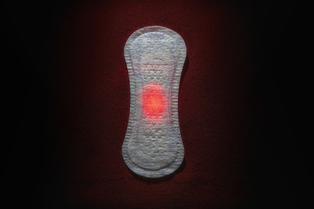 In this photo illustration sanitary pad product on display. Women sanitary products such as pads will be freely available from all state schools in England from the 27th January in an attempt to tackle period poverty and stigma around menstruation.
