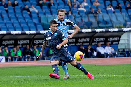 Gabriel Strefezza of Spal in action during the Serie A match between SS Lazio and Spal at Stadio Olimpico. (Final score; SS Lazio 5:1 Spal)