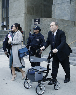 NEW YORK, UNITED STATES -FEBRUARY 3, 2020: Former Hollywood film producer Harvey Weinstein leaves court during his continuing rape trial.  According to CNN Mr. Weinstein was accused by more than eighty women of sexual abuse ranging from harassment to rape. He is charged with predatory sexual assault, criminal sexual act, first-degree rape and third-degree rape.