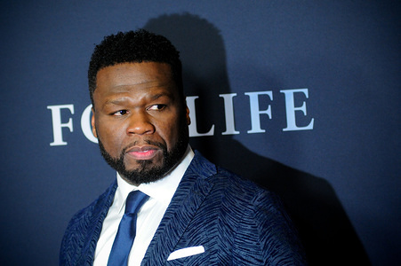 """NEW YORK, UNITED STATES - FEBRUARY 5, 2020: 50 Cent (Curtis Jackson) attends the """"For Life"""" TV Series Premiere at Alice Tully Hall, in New York City."""