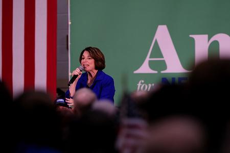 NASHUA, UNITED STATES - FEBRUARY 9, 2020: Democratic presidential candidate Minnesota Senator Amy Klobuchar campaigns in Nashua.