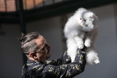 A Persian cat seen displayed at the International Cat Show in Lisbon. The Lisbon international cat show is hosted in Mercado De Santa Clara on 15th and 16th February.