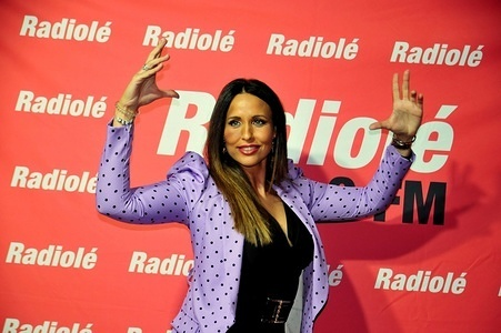 L'HOSPITALET, SPAIN - FEBRUARY 16, 2020: Flamenco singer, Ana de Caro at a photo call before performing during the Radiolé radio station festival commemorating the Day of Andalusia.