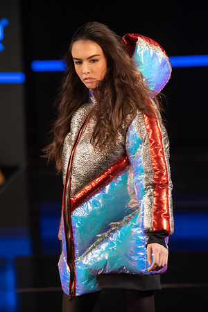 A model walks the runway during the Custo Barcelona 25th Anniversary Spectacular At New York Fashion Week Powered By Art Hearts Fashion NYFW 2020 and The Angel Orensanz Foundation in New York City.