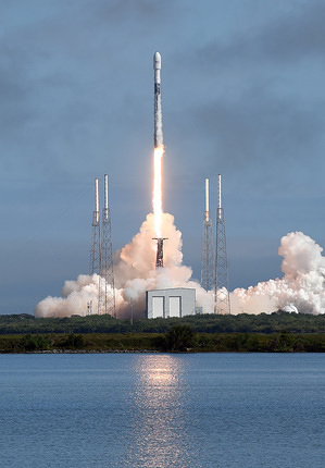 A SpaceX Falcon 9 rocket carrying 60 Starlink satellites launches from pad 40 at Cape Canaveral Air Force Station in Florida.  This is the fifth batch of internet satellites launched by SpaceX, making a total of 300 now in orbit. The first stage booster rocket missed its planned landing on the SpaceX drone ship.