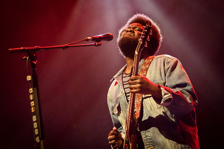 British singer-songwriter Michael Kiwanuka performs live on stage at a sold out show in Toronto.