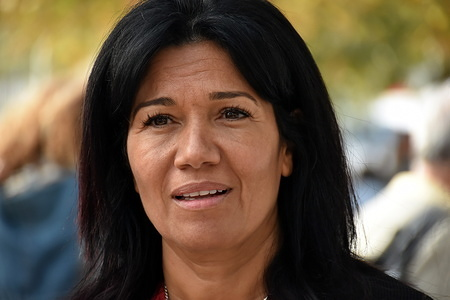(EDITOR NOTE: Archive photo) French Socialist Senator, Samia Ghali representing the Bouches-du-Rhône department seen ahead of her candidacy for the elections to be mayor of Marseille.
