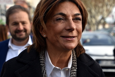 President of the Aix-Marseille-Provence metropolis, Martine Vassal and candidate in the elections for mayor of Marseille.
