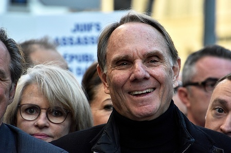 Former president of the University of Aix-Marseille, Yvon Berland campaigns for mayor in Marseille.