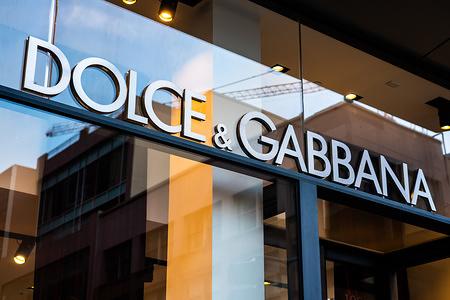 Italian luxury fashion house Dolce & Gabbana store.