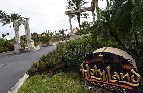 The entrance to The Holy Land Experience is seen deserted on the first day of closure as theme parks in the Orlando area suspend operations for two weeks in an effort to curb the spread of the coronavirus (COVID-19). As of March 16, 2020 there were 155 Florida-related coronavirus cases.