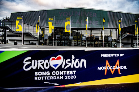 Exterior view of the Rotterdam Ahoy, the official venue for the planned Eurovision Song Contest 2020. This year's Eurovision Song Contest has been canceled due to the ongoing pandemic of the COVID-19 coronavirus disease.