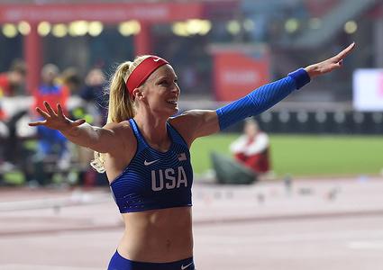 Sandi Morris, Pole-vaulter during the IAAF World Championships at Khalifa International Stadium, Doha.
