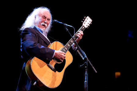David Crosby performs live on stage at Danforth music hall in Toronto.