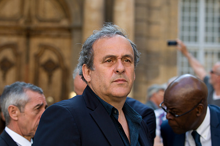 """Michel Platini, the former UEFA president is now targeted for """"suspicion of fraud and possible breach of trust"""". Union of European Football Association, (UEFA)"""