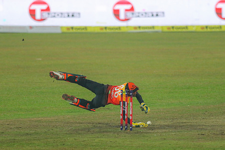 Gemcon Khulna cricket player, Anamul Haque in action during the Bangabandhu T20 Cup 2020 between Beximco Dhaka and Gemcon Khulna at Sher e Bangla National Cricket Stadium. Gemcon Khulna won by 37 runs.