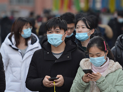 Students wearing face masks as a precaution against the spread of coronavirus during the first ever International Day of Epidemic Preparedness.  The United Nations General Assembly called on all its member states and other global organisations to mark December 27 every year as the International Day of Epidemic Preparedness in order to advocate the importance of global partnership against epidemics.