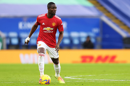 Eric Bailly of Manchester United in action during the Premier League match between Leicester City and Manchester United at King Power Stadium. Final Score; Leicester City 2:2 Manchester United.