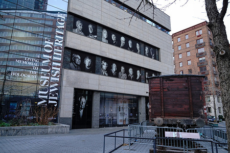 A view of the Museum of Jewish Heritage. A Confederate flag discovered tied to the door of the Museum of Jewish Heritage in Manhattan on Friday, January 8, 2021, prompted widespread condemnation across New York and promises of a swift reaction from city and state law enforcement.