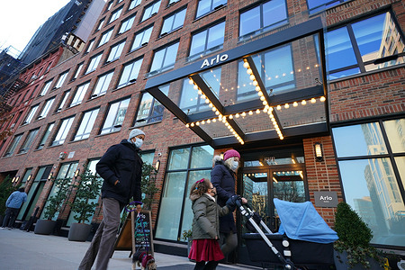 A view of Arlo SoHo Hotel in New York City. The said boutique hotel is the location where a woman attacked an innocent Black teen for stealing her phone at NYC hotel on a video that has gone viral.