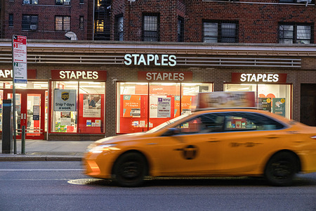 A view of a Staples branch in Nolita, New York City.Staples offers to buy Office Depot for $2.1 billion.