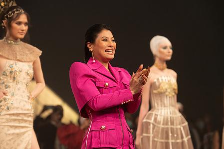 Princess of Thailand Sirivannavari Nariratana attends the Nefreretta's collection show during the Sirivannavari Spring-Summer 2021 at Siam Paragon Shopping Center.