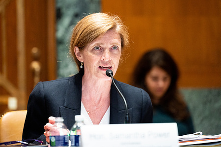 Samantha Power, Administrator, United States Agency for International Development speaking at a hearing of the Senate Appropriations Committee Subcommittee on State, Foreign Operations, and Related Programs.