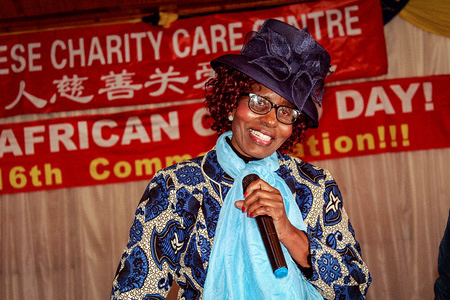 Mma Modise seen giving a speech at the Day of the African Child, June 16 commemoration. The Chinese Charity Care Centre (CCCC) event was organised by the Charity Association of Chinese in Botswana (CACB), in partnership with the Tsholofelong Children and Youth Trust. For the children, the day was filled with food, and laughter. The event was held in Naledi ward, a community that's a symbol of poverty in the nation's capital city Gaborone.