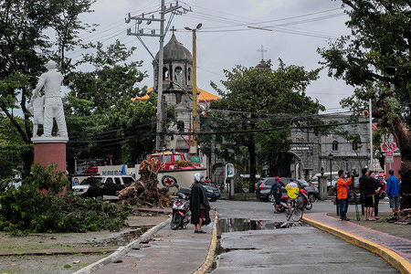 Citizens looking at the damaged cause by the typhoon. On September 14 2018, Super Typhoon Mangkhut hit the Philippines with wind speed of 205 kilometers per hour (kph), and gusts reaching 255 kph.  More than a thousand of Filipino citizens all over the country have been affected. Forecasters have called the Manghut as one ofthe strongest typhoon this year. Mangkhut is the 15th storm to batter the Philippines this year.